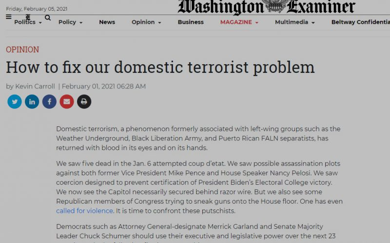 'Washington Examiner' Headline