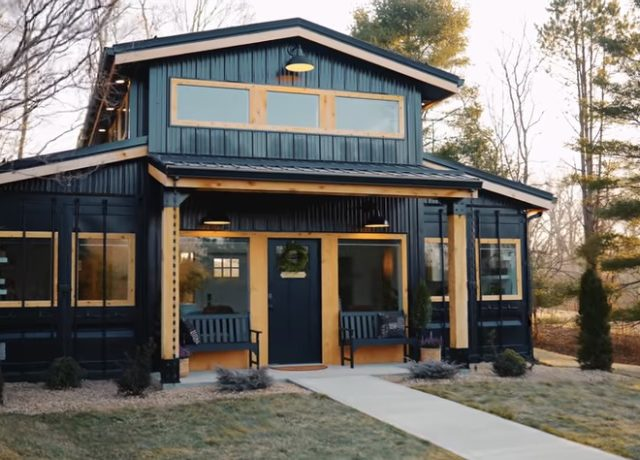 Shipping Container House Airbnb with Basketball Court Is Badass!