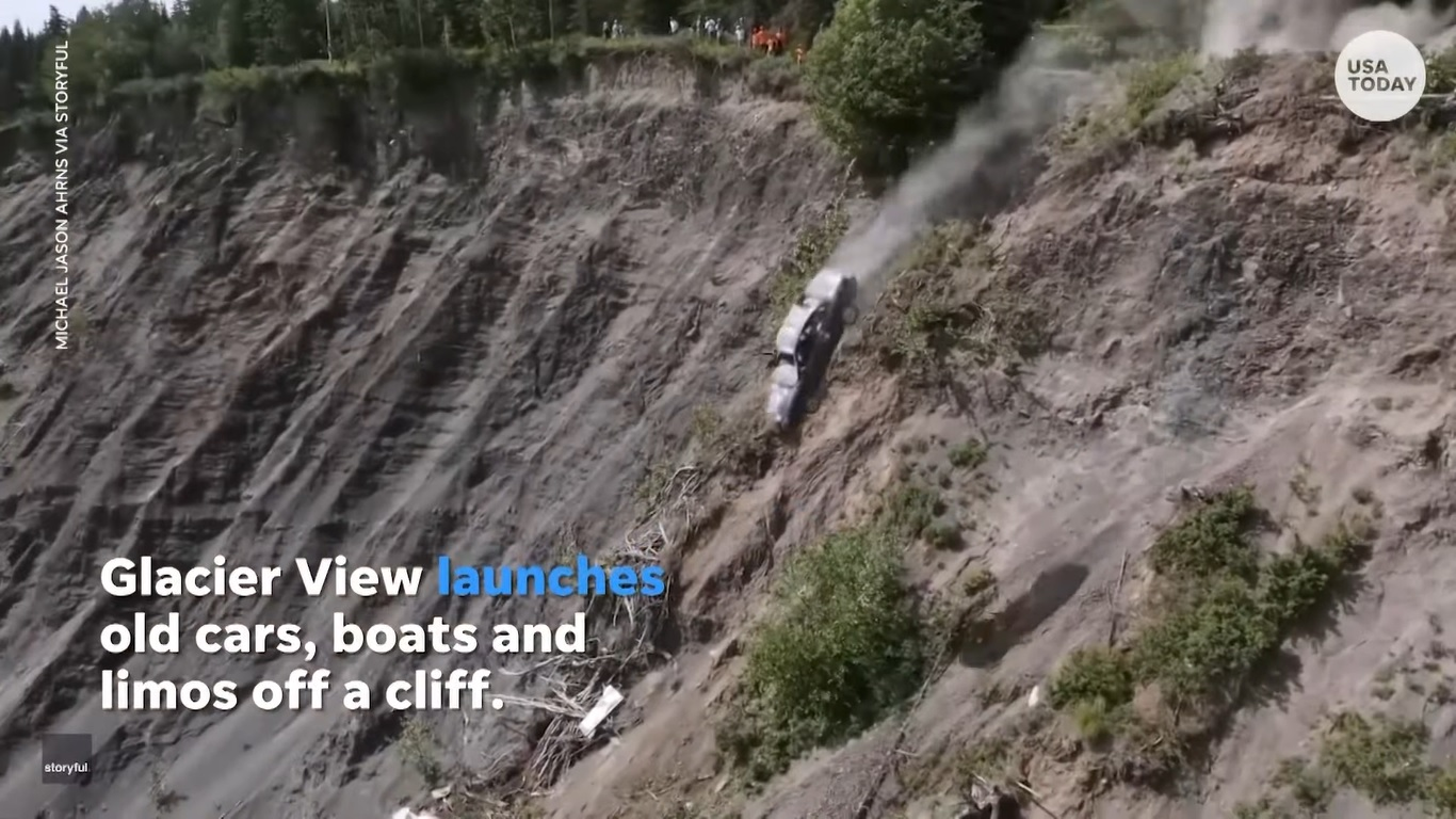 Alaskan Town Launches Vehicles Off Cliff to Celebrate July 4