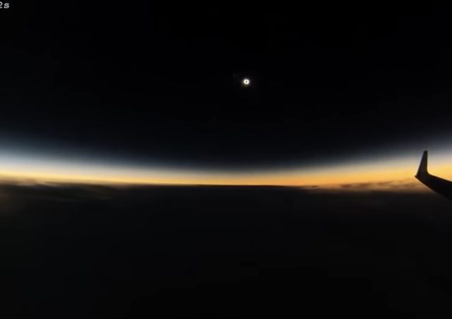 Solar Eclipse from a Plane & More